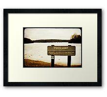 Price Lake Framed Print