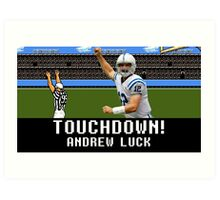 Tecmo Bowl Andrew Luck Art Print