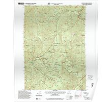 USGS Topo Map Oregon Reynolds Ridge 281256 1998 24000 Poster