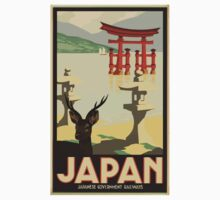 Vintage Travel Japan Poster by Payce Lyons