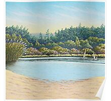 Sailing Boats, Frensham Ponds, Surrey Poster