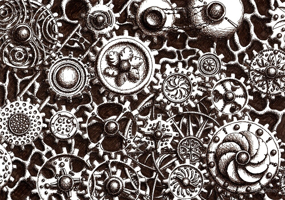 Cogs #3 (with BG and black shading) by HolyOther