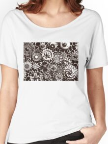 Cogs #3 (with BG and black shading) Women's Relaxed Fit T-Shirt
