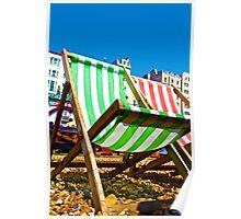 Brighton Deck Chair Poster