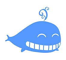 Cute Smiling Whale Photographic Print