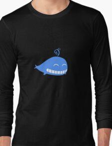 Cute Smiling Whale Long Sleeve T-Shirt