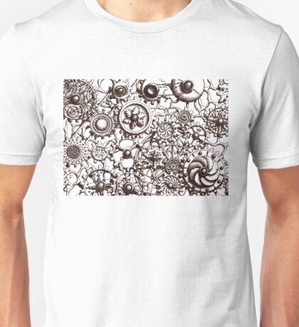 Cogs #3, (no BG infill) Unisex T-Shirt