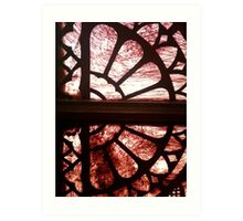 Stained glass in historical building - #2 Art Print