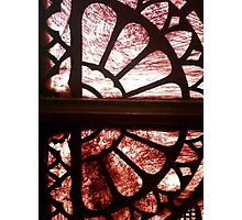 Stained glass in historical building - #2 Photographic Print