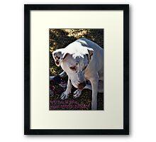 Be My Valentine... Framed Print