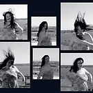 wind swept hair - collage by vampvamp