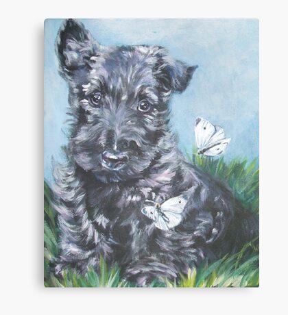Scottish Terrier Fine Art Painting Canvas Print