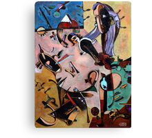 Homage to Miro Canvas Print