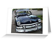 Old Antique Black Ford Automobile Greeting Card