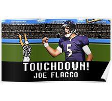 Tecmo Bowl Joe Flacco Poster