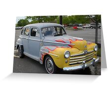 Old Antique Ford Automobile Greeting Card