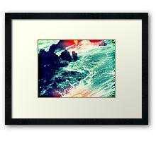 in your ocean i'm ankle deep Framed Print