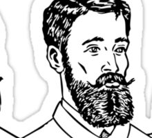 Vintage Men's Beards Sticker