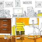 Sketch 3 ... study room by littlearty