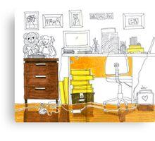 Sketch 3 ... study room Metal Print