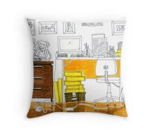 Sketch 3 ... study room Throw Pillow