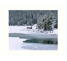 Frozen beauty, Lake Louise, Alberta Canada Art Print