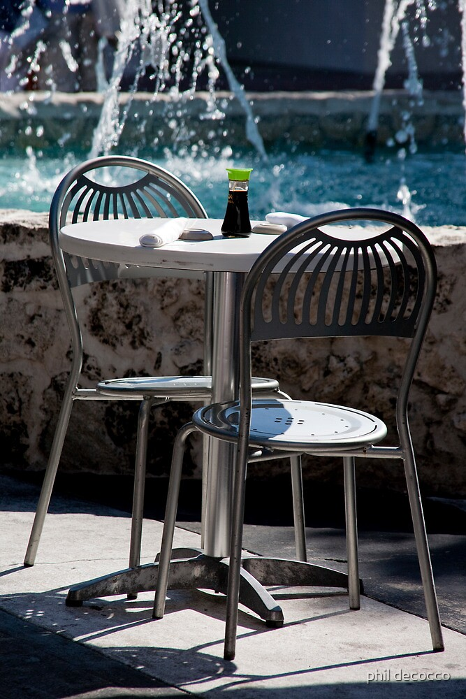 Soy Table And Chairs by phil decocco