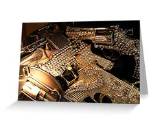 Golden Killer Buckles Greeting Card