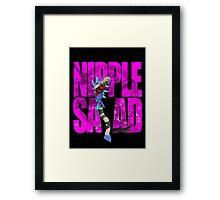 NIPPLE SALAD Framed Print