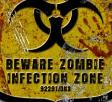Zombie Infected Zone Sticker