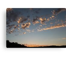 Delicate Sunset in Albany, Western Australia Canvas Print
