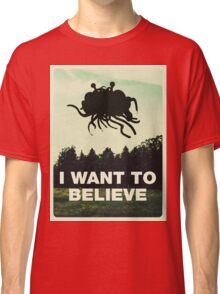 Flying Spaghetti Believing Classic T-Shirt