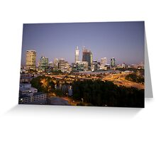 Perth Skyline at Dusk from King's Park Greeting Card