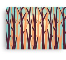 trees against the light Canvas Print