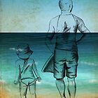 Me and Daddy at the Beach by Kristy Spring-Brown