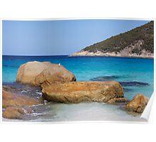 Little Beach Rocks Poster