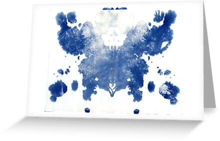 rorschach, forest - cyanotype print by iannarinoimages