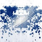rorschach, galaxy - cyanotype print by iannarinoimages