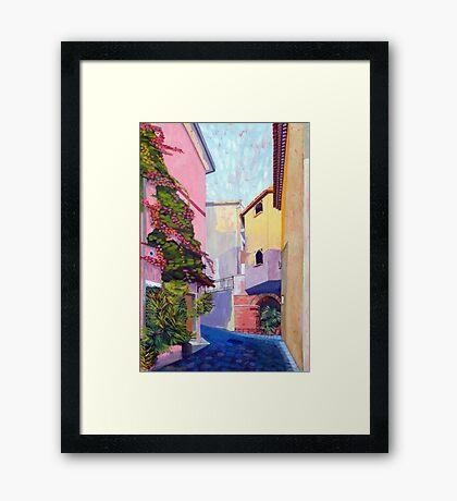 Laurino Italy Street Scene Framed Print
