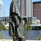Stevie Ray Vaughan Statue by luckylarue
