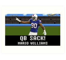 Tecmo Bowl Mario Williams Art Print