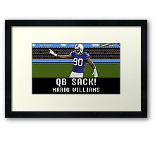 Tecmo Bowl Mario Williams Framed Print