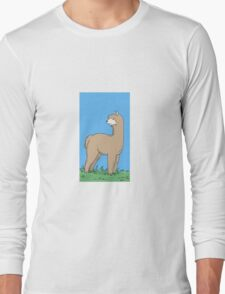 Brown Alpaca Long Sleeve T-Shirt