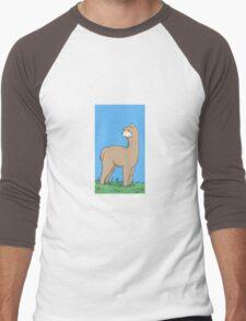 Brown Alpaca Men's Baseball ¾ T-Shirt