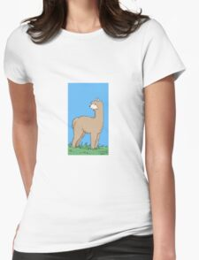 Brown Alpaca Womens Fitted T-Shirt