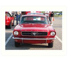 Red antique automobile - Nashville, Tennessee Art Print
