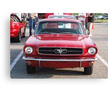 Red antique automobile - Nashville, Tennessee Canvas Print