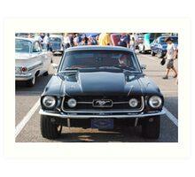 Black antique automobile - Nashville, TN Art Print
