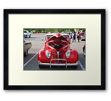 Red antique car - Nashville, Tennessee Framed Print
