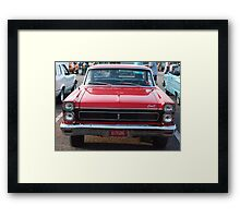 Red antique automobile, Nashville, TN Framed Print